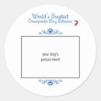 Custom Worlds Greatest Chesapeake Bay Retriever Classic Round Sticker