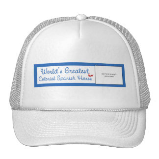 Custom Worlds Greatest Colonial Spanish Horse Cap