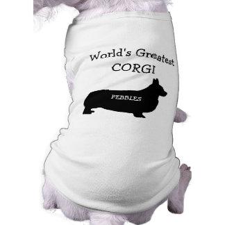 Custom Worlds Greatest Corgi Sleeveless Dog Shirt