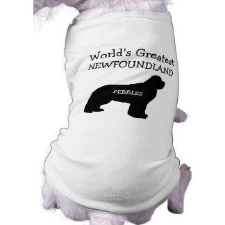 Custom Worlds Greatest Newfoundland Sleeveless Dog Shirt