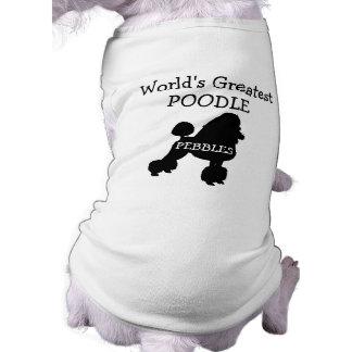 Custom Worlds Greatest Poodle Sleeveless Dog Shirt