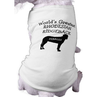 Custom Worlds Greatest Rhodesian Ridgeback Dog Sleeveless Dog Shirt