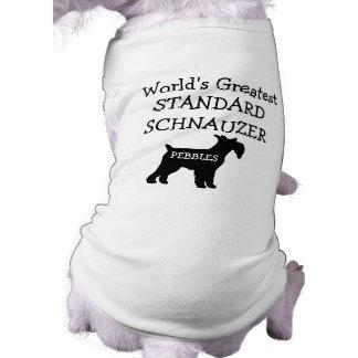 Custom Worlds Greatest Standard Schnauzer Sleeveless Dog Shirt