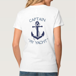 "Custom Yacht Anchor ""Your Name Here"" T-Shirt"
