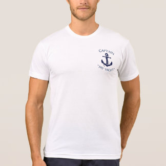 """Custom Yacht Anchor """"Your Name Here"""" T-Shirt"""