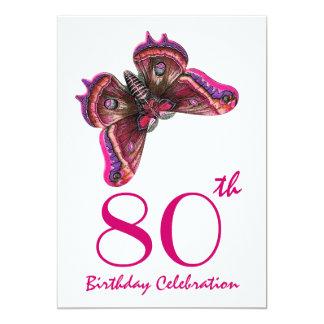 Custom Year Birthday Party Invite Purple Butterfly
