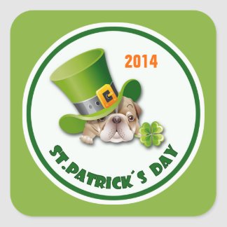 Custom Year St. Patrick's Day Stickers