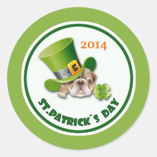 Custom Year St. Patrick's Day Stickers Sticker