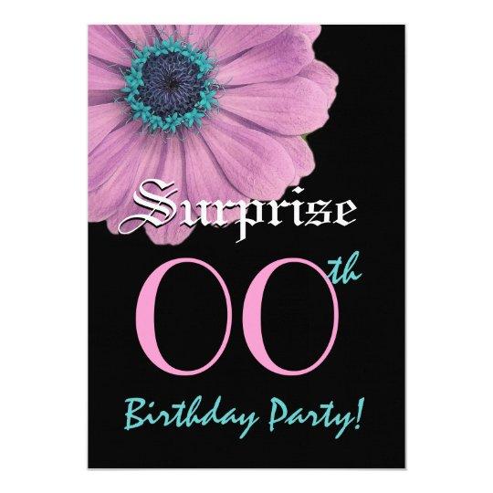 Custom Year SURPRISE Birthday Template Pink Daisy
