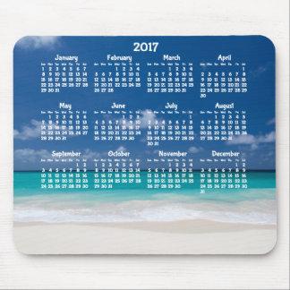 Custom Yearly Calendar 2017 Mouse Pad Beach