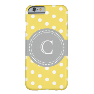 Custom Yellow and Grey Polka Dot Case