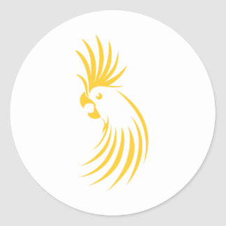 Custom Yellow Cockatoo Logo Classic Round Sticker