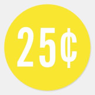 Custom Yellow Price Sticker