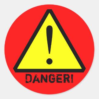 Custom Yellow, Red & Black  Warning Symbol Sticker