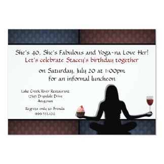 Custom Yoga Party Invitations