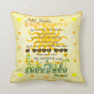 Custom You are My Sunshine Cushion