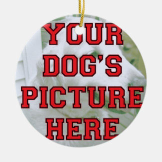 Custom Your Dog's Picture Christmas Tree Ornament