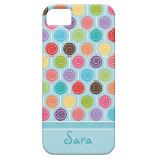 Custom Your Name Lollipop Pattern iPhone 5 Cover