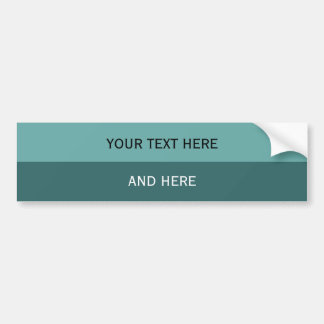 Custom your text, image & background color bumper sticker