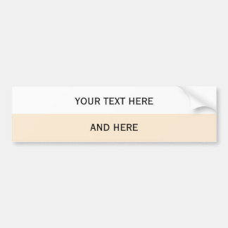 Custom your text, image & background color bumper stickers