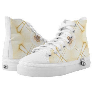 Custom Zip High Top Shoes Summer Feel Printed Shoes