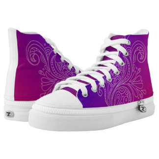 Custom Zips High Tops Printed Shoes