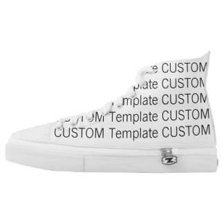 Custom ZIPZ® Canvas High Top Sneakers Shoes