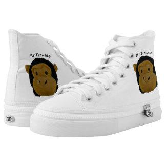 Custom Zipz High Top Shoes, Men 3 /36 : Women 3.5