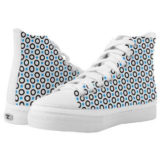 Custom Zipz High Top Shoes, Men 3 /36 : Women 3.5 Printed Shoes