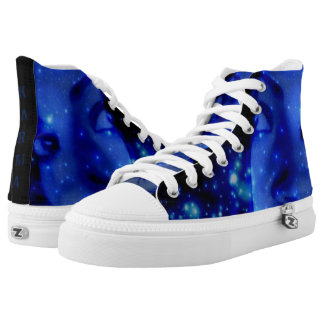 Custom Zipz High Top Shoes, US Men 4 / US Women 6