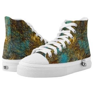 Custom Zipz HighTop Shoes-sneakers,US Men/US Women Printed Shoes
