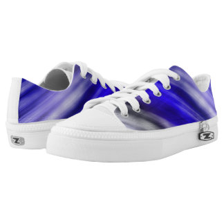 Custom Zipz Low Top Shoes, abstract blue
