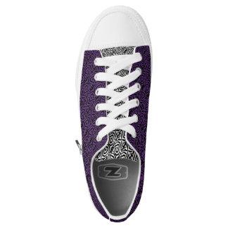 Custom Zipz Low Top Shoes, Geo (e)