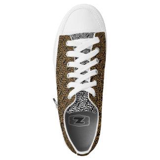 Custom Zipz Low Top Shoes, Geo (f)