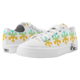 Custom Zipz Low Top Shoes Snowflakes
