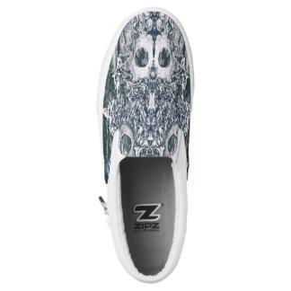Custom Zipz Slip On Shoes Skull and bones Printed Shoes