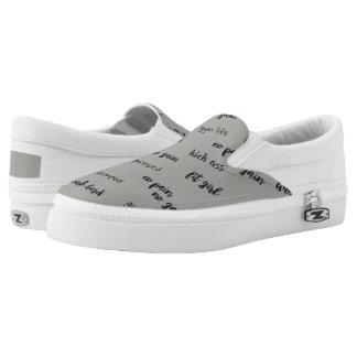 Custom Zipz Slip On Shoes, US Men 4 / US Women 6 Printed Shoes
