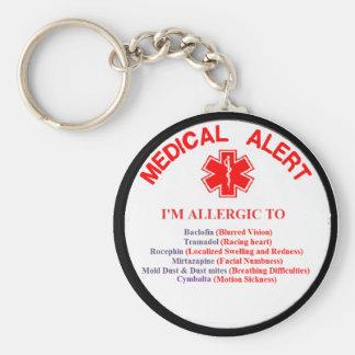 Customer 1 Drug Allergy Button Basic Round Button Key Ring