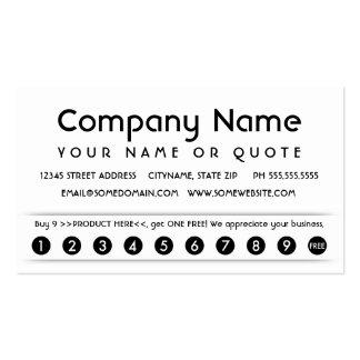 customer appreciation card business card template