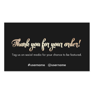 Customer Appreciation Thank You for Your Order Pack Of Standard Business Cards
