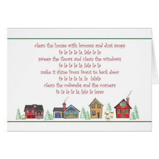 Customer Christmas Card Maid or Cleaning Service