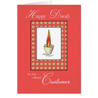 Customer Diwali Candle on Red Card