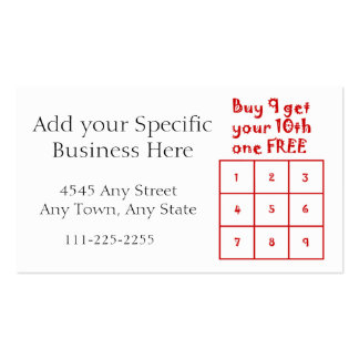 Customer Loyalty Punch Card - Generic Business use Business Card Template