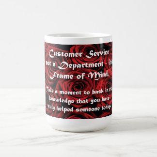 Customer Service Frame of Mind Basic White Mug