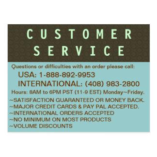 Customer Service - INFO Postcard