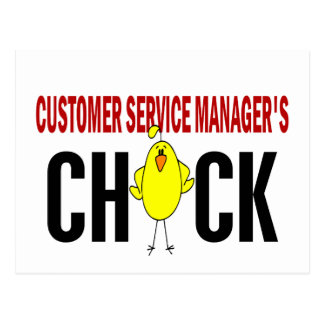 Customer Service Manager's  Chick Postcard