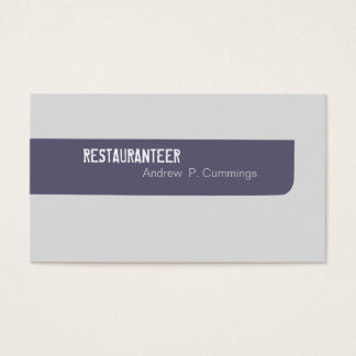 Customer Services Simplistic Masculine Business Card