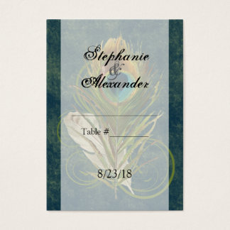 CustomInvites Peacock Feather Wedding Place Cards