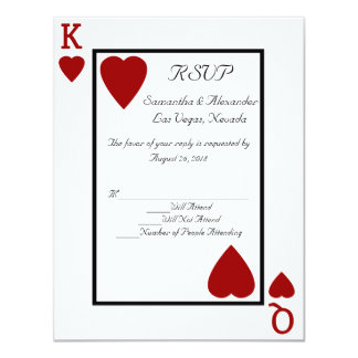CustomInvites Playing Card King/Queen RSVP