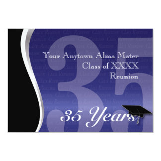 Customisable 35 Year Class Reunion 13 Cm X 18 Cm Invitation Card